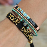 Just be you and Live your dream set of 2 bracelets_