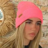 Beanie hot pink_