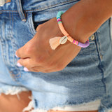 Armband summer shell peach_