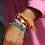 Yellow bandana braid bracelet