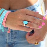Ring versailles turquoise silver_