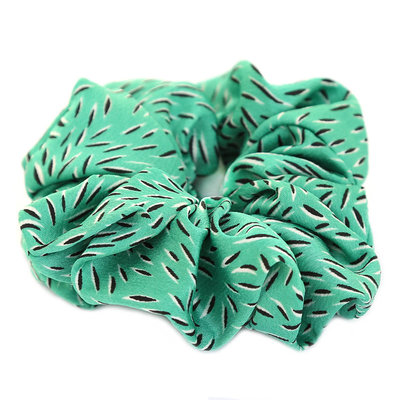 Scrunchie green leaf