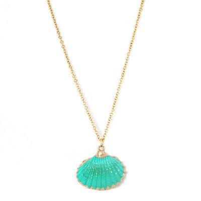 Kette shell sea green