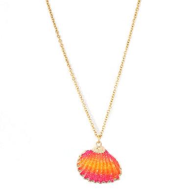 Kette shell pink orange