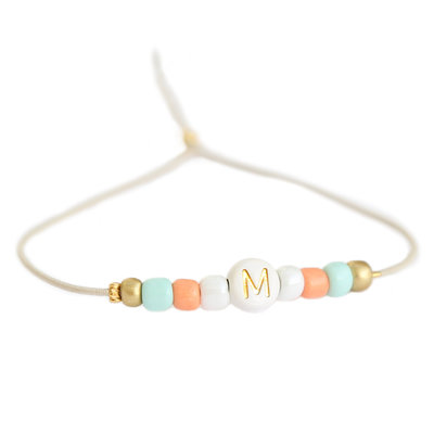 Initiale Armband Sommer
