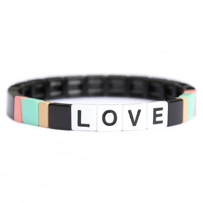 LOVE stone armband