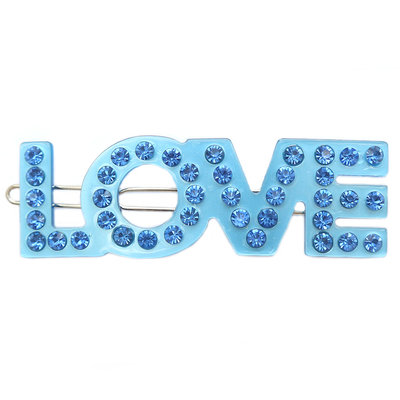 Haarspange Love blue strass