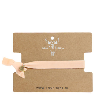 Velvet armband - Peach