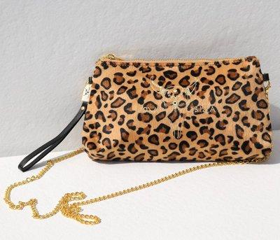 Samtbeutel mit Leopardenmuster