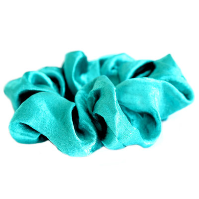 Satin scrunchie emerald