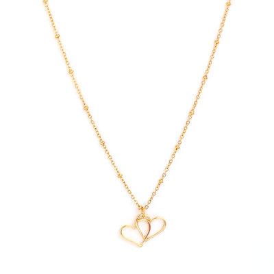 Kette Double heart gold