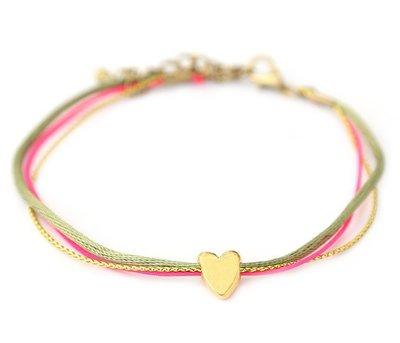 Fußketten golden heart