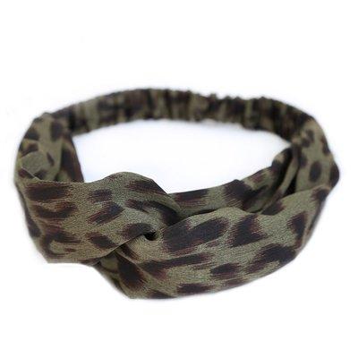 Haarband Leopard green