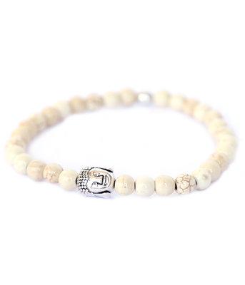 Buddha Armband ivory stone