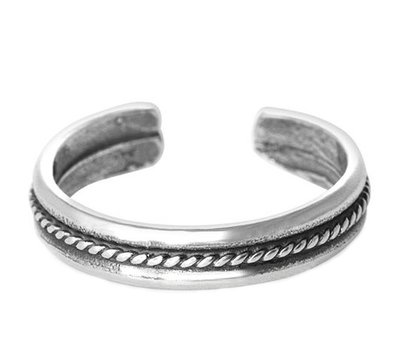 Midi pink ring Chain (silber)