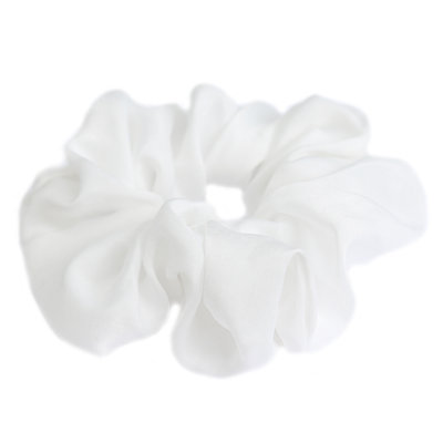 Scrunchie silk white