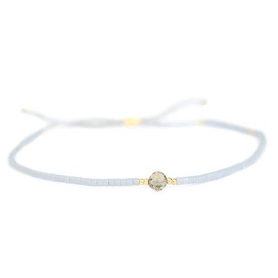 Miyuki armband grau