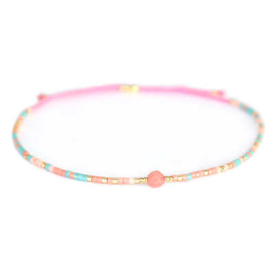 Miyuki armband pink