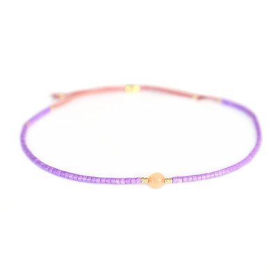Miyuki Armband violet