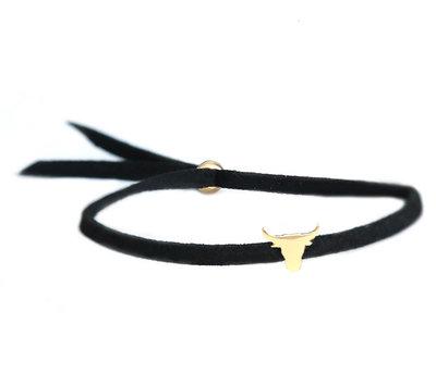 Buffalo armband black gold