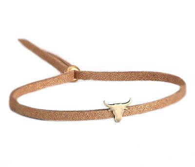 Buffalo armband bronze brown