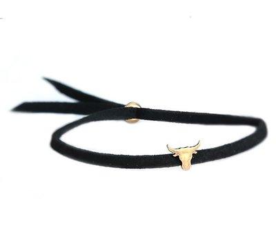 Buffalo armband bronze black