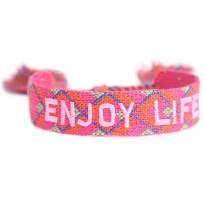 Gewebtes Armband Enjoy life