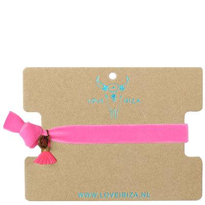Velvet armband - pink
