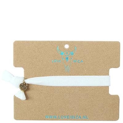 Velvet armband - white