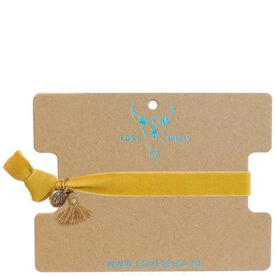 Velvet armband - Ocker