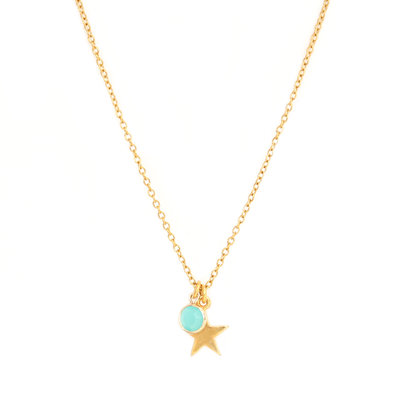 Kette star blue gold