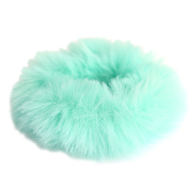 Scrunchie faux fur ocean