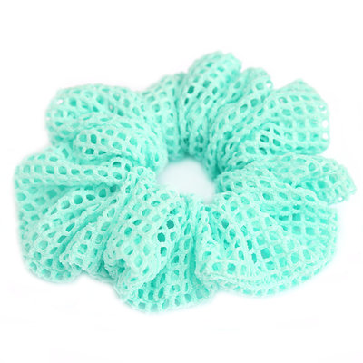 Scrunchie mesh turquoise