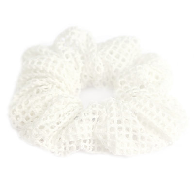 Scrunchie mesh white