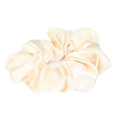 Satin scrunchie ivory