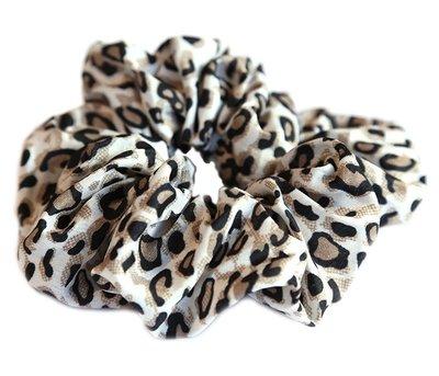 Scrunchie Baumwolle leopard naturel