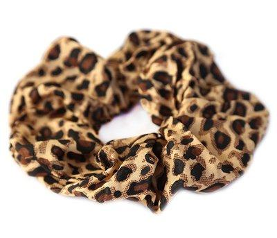 Scrunchie Baumwolle leopard brown