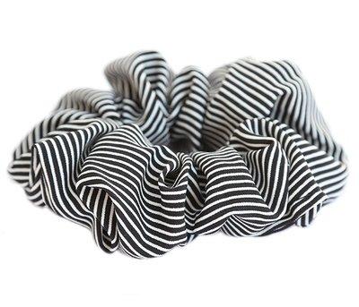 Scrunchie stripe schwarz