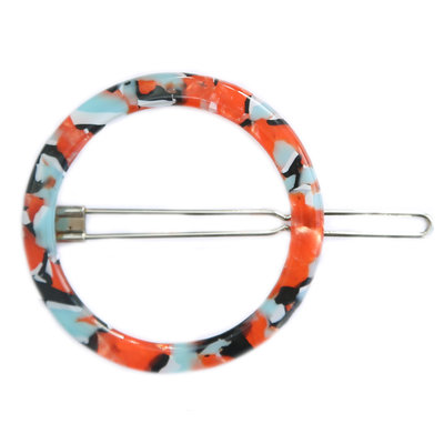 Haarspange round blue red