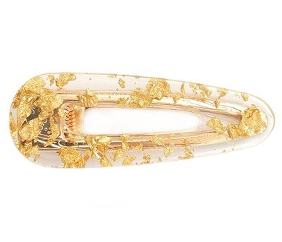 Statement haarspange - Gold flakes