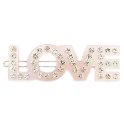 Haarspange love rose strass