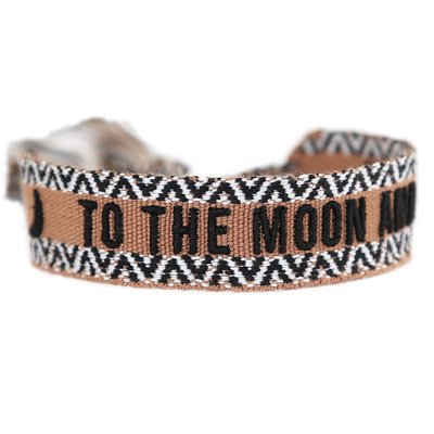 Gewebtes Armband To the moon and back