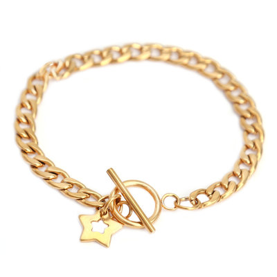Armband chain gold star