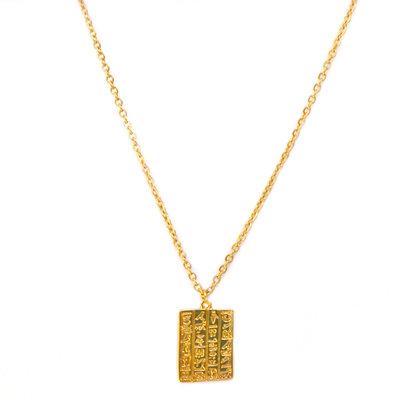 Kette Secret script gold