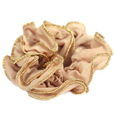 Scrunchie gold thread