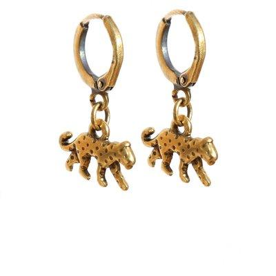 Ohhringe - Leopard gold