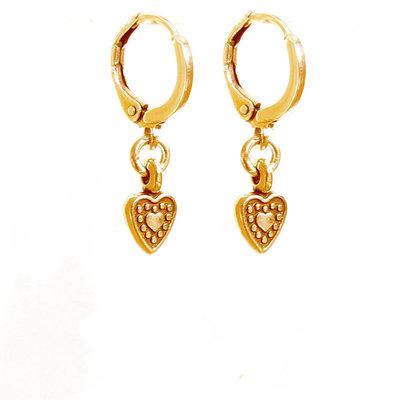 Ohrringe - Heart gold