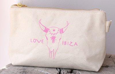 Make-up Tasche Love Ibiza Pink
