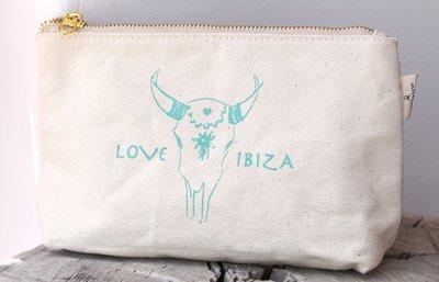Make-up Tasche Love Ibiza Turquoise