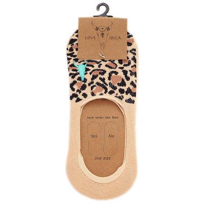 Sneaker Socke Leopard beige